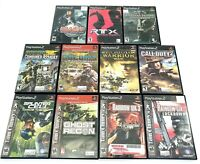 Sony PlayStation 2 PS2 Games Lot of 11 Tom Clancy Socom Call of Duty Tested