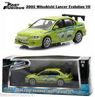 Fast & Furious 2002 Mitsubishi Lancer Evolution VII Diecast Model Car 1:43 86209