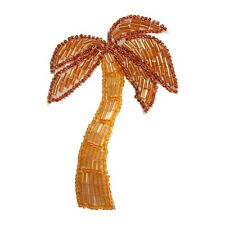 ID 8884 Tropical Palm Tree Patch Coconut Beach Plant Beaded Iron On Applique