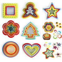 5Pcs Colourful Cookie Biscuit Cutter Pastry Fondant Mold Cake Decorating Mould