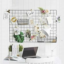 Grid Wall Panel Decorative Iron Rack Clip Photo Holder Painted Wire Photograph