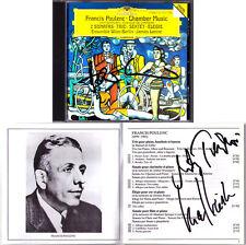 Karl LEISTER, Hansjörg SCHELLENBERGER, Milan TURKOVIC Signiert POULENC CD LEVINE