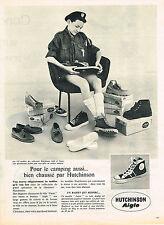 PUBLICITE ADVERTISING 084  1961  AIGLE HUTCHINSON  chaussures baskets