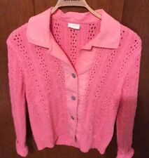 Blue Willi's Pink Button Down Sweater Size M