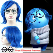 Hot Sale Inside Out Sadness short blue cosplay wig +free wig cap FREE SHIPPING