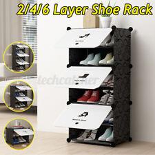 2/4/6 Layer Shoes Rack Storage Cabinet Shelf Closet Organizer Home Space Saving
