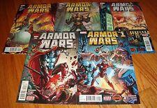 2015 Armor Wars 1 2 3 4 5 Full Set 1st Prints Secret Wars Iron Man