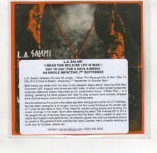 (HR908) L.A. Salami, I Wear This Because Life Is War! - DJ CD