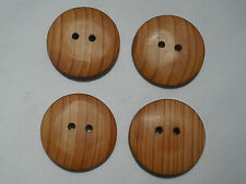 One Handmade Yew Timber Button, 26mm Round, Item 222