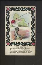1907 Rose Company Golf Post Card - The Golfer