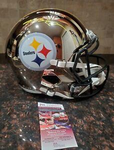 Antonio Brown Autographed Steelers Full Size Chrome Replica Helmet JSA Witnessed
