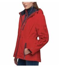 Tommy Hilfiger 3-in-1 All-Weather System Jacket Womens Hooded Red/Navy XXL