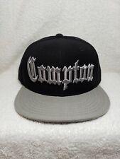 Compton Hat Cap Snapback Eazy E Black & Gray Los Angeles NWA Old English West