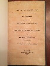 RARE 1836 Address by Henry Laurens Pinckney, Raleigh, North Carolina imprint 1st
