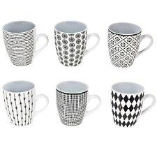 6er Set Tassen 350ml Kaffeetasse große Kaffeebecher Keramik Kaffee Tee SW 3075