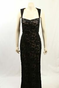 NEW Aidan Mattox - Size 12- Black Lace Formal Gown-RRP:$395.00