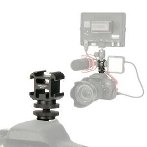 Ulanzi PT-3S Universal Triple Cold Shoe Mic Flash Camera Hot Shoe Adapter Mount