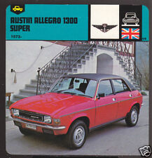 1973-1978 AUSTIN ALLEGRO 1300 SUPER Car Picture CARD