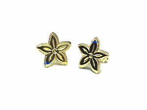New Ladies 9ct 9Carat Yellow Gold Star Fish Shape Studs Earrings 11mm Hallmarked