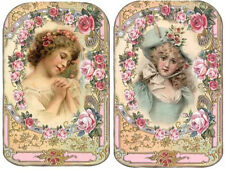 VinTaGe IMaGe MaGNiFiCenT VicToRiaN MaiDeNs SHaBbY WaTerSLiDe DeCALs