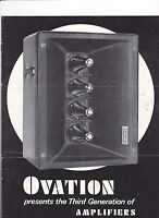 #MISC-0388 - 1968 OVATION GUITAR AMPLIFIERS musical instrument catalog