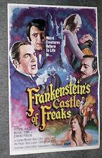 FRANKENSTEIN'S CASTLE OF FREAKS pressbook EDMUND PURDOM/GORDON MITCHELL original