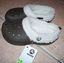 NEW CROCS MAMMOTH SHOES SLIPPERS YOUTH C 12 13 BROWN