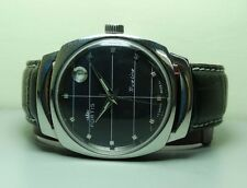 VINTAGE Fortis TRUELINE AUTOMATIC DATE SWISS MENS WATCH BLACK DIAL OLD USED G98