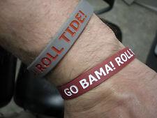 Alabama Crimson Tide Wristbands Bracelet Ncaa Go Bama Roll