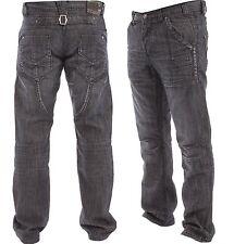 "Mens Enzo Straight Leg Jeans in 2 Colours All Sizes Ez554 W-32 32"" Regular"