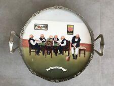 WMF Jugendstil Art Nouveau Ceramic Tray Silver Plated Handled Frame . Unique !