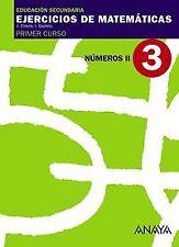 EJERCICIOS MATEMATICAS 3-1º.ESO.(NUMEROS II). ENVÍO URGENTE (ESPAÑA)