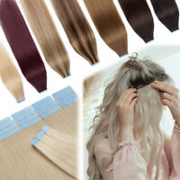 BLONDE Russian 60ps 150G Tape In Human Hair Extensions Remy Skin Weft Full Thick