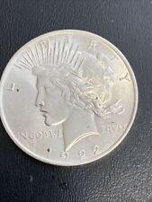 Uncirculated 1922 Peace dollar