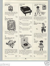 1959 PAPER AD Horsman Dolls Softee Snow Suit Ruthie Doll Ohio Art Litho Drum