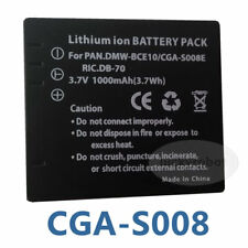 Battery PACK for Panasonic CGA-S008E Ricoh CX1 DB-70 Caplio R6 R7 Digita Camera