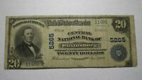 $20 1902 Wilkinsburg Pennsylvania PA National Currency Bank Note Bill Ch. #5265