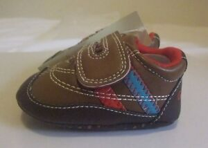 Baby Boys brown white blue sneakers soft sole shoes euro 18, 20