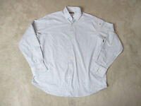 Peter Millar Button Up Shirt Adult Large White Blue Plaid Long Sleeve Casual H*