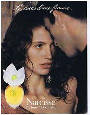 """PUBLICITE ADVERTISING 094 1999 CHLOE parfum """"Narcisse"""" le coeur d'une femme"""