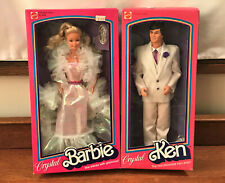 NIB Vintage 1983 CRYSTAL BARBIE & KEN DOLLS in Unopened Boxes 4598 & 4898