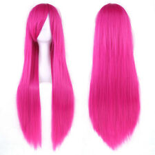 "32"" Multicolor Cosplay Wig Women Long Straight Party Wigs Hairpiece Headwear"