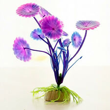 Purple Aquarium Ornament Grass Plastic Plants Fish Tank Decoration Landscape
