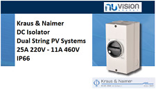 Kraus&Naimer K&N DC Isolator Dual String PV Systems 25A @ 220V - 11A @ 460V IP66