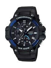 Casio Men's Quartz Chronograph Date Black Resin Band 50mm Watch MCW110H-2AV