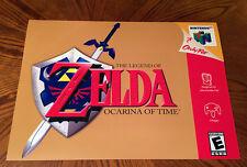 """The Legend of Zelda Ocarina of Time N64 24"""" game art poster link Nintendo 64"""