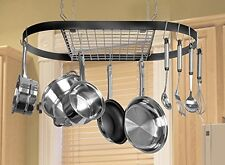 New Kinetic Classicor Series Wrought Iron Oval Pot Rack 12021 Free Shipping