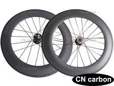 88mm Clincher carbon track single speed wheelset 23mm,25mm rim width