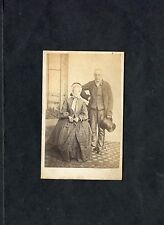 C1890's Photo Cabinet Card of an Old Couple. Taken in Edinburgh.
