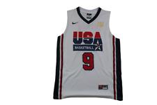 Maillot basket rétro USA N°9 Jordan